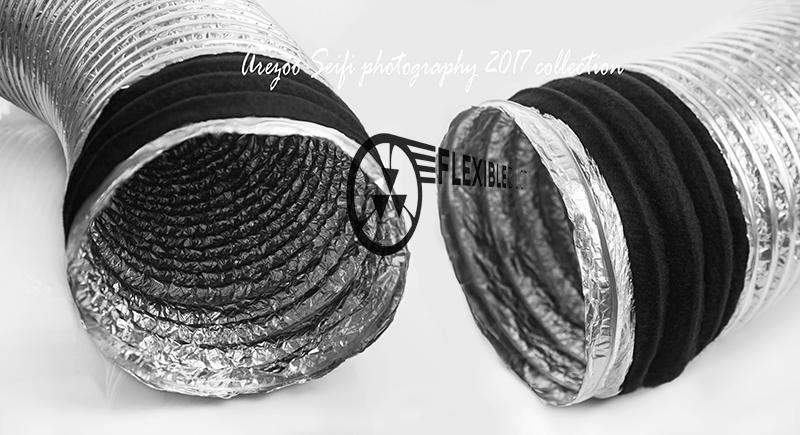 Elastomer insulated flexible duct