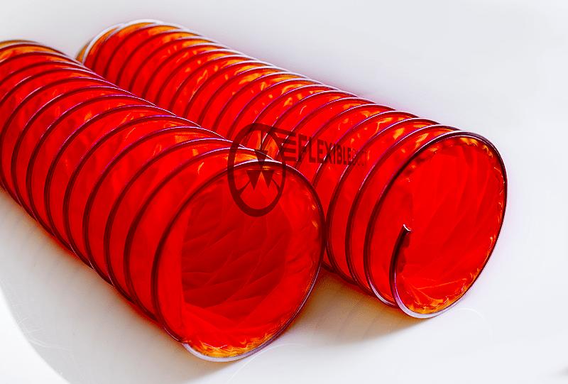 Fireproof tarpaulin flexible duct
